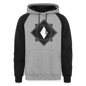 Crysm Double Squares Black (Texture) - Colorblock Hoodie