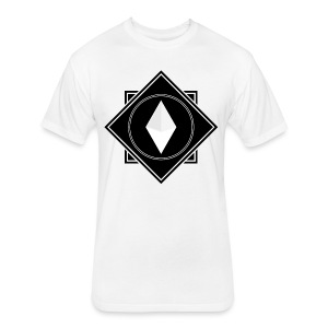 Crysm Double Squares Black - Fitted Cotton/Poly T-Shirt by Next Level