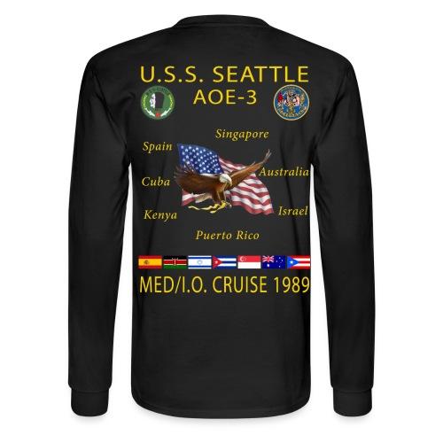 USS SEATTLE 1989 CRUISE SHIRT  - LONG SLEEVE - Men's Long Sleeve T-Shirt