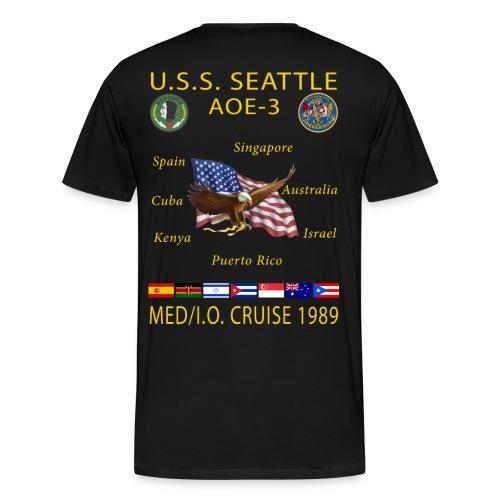 USS SEATTLE 1989 CRUISE SHIRT  - Men's Premium T-Shirt