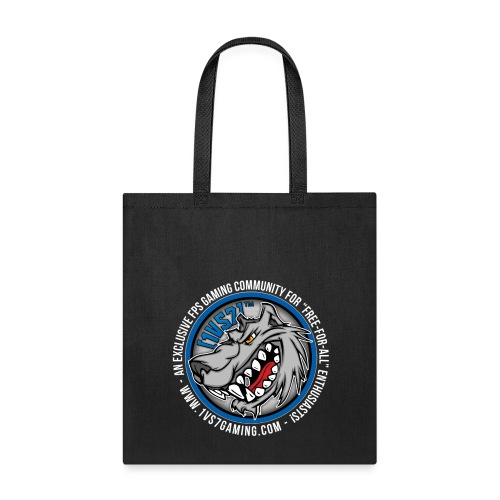 [1vs7]™ Tote Bag | Classic Full Color Logo | Black Fabric - Tote Bag