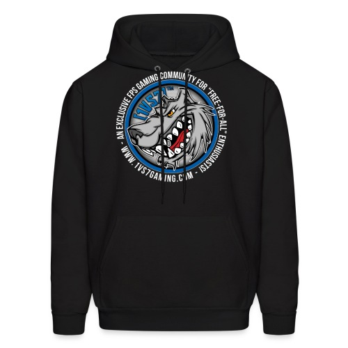[1vs7]™ Men's Hoodie | Classic Full Color Logo | Black Fabric - Men's Hoodie