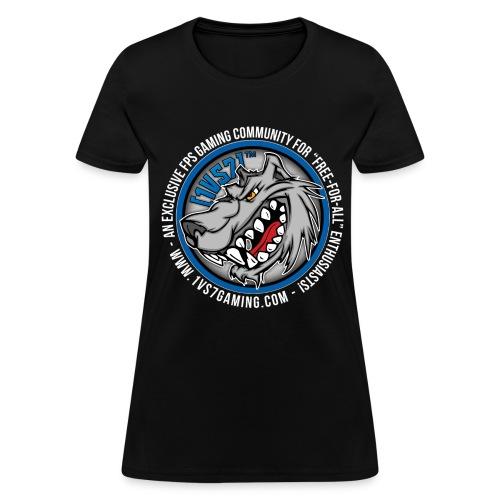 [1vs7]™ Women's Tee | Classic Full Color Logo | Black Fabric - Women's T-Shirt
