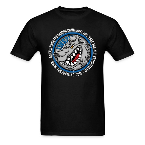 [1vs7]™ Men's Tee | Classic Full Color Logo | Black Fabric - Men's T-Shirt