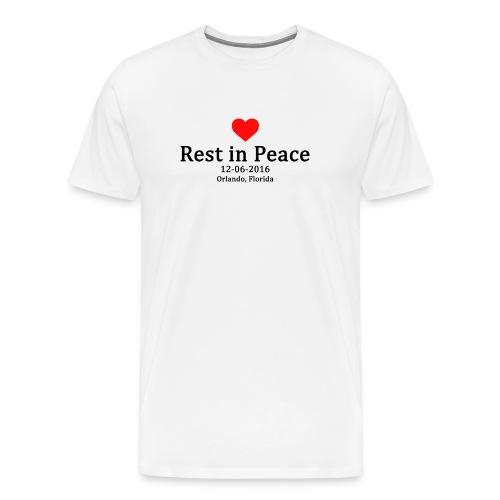 Mens T-shirt - Rest in Peace - Men's Premium T-Shirt