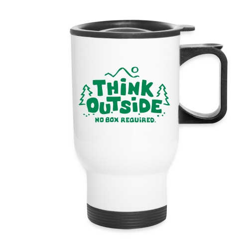 Think Outside - No Box Required - Travel Mug