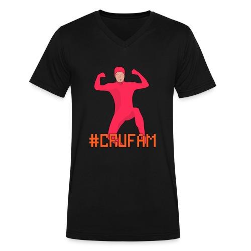 #Crufam - Mens Vneck - Men's V-Neck T-Shirt by Canvas