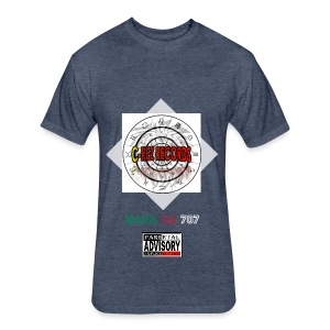 C-REZ RECORDS T-Shirt - Fitted Cotton/Poly T-Shirt by Next Level