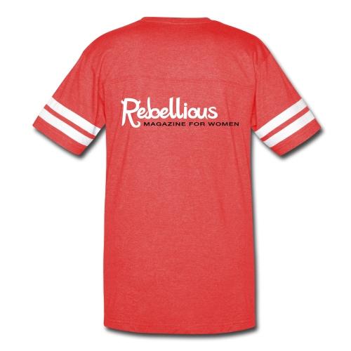 Rebellious Magazine Baseball Tee - Vintage Sport T-Shirt