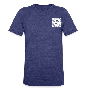 SheepJuiceGames Badge Design (White) - Unisex Tri-Blend T-Shirt by American Apparel