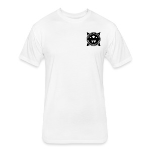 SheepJuiceGames Badge Design (Black) - Fitted Cotton/Poly T-Shirt by Next Level