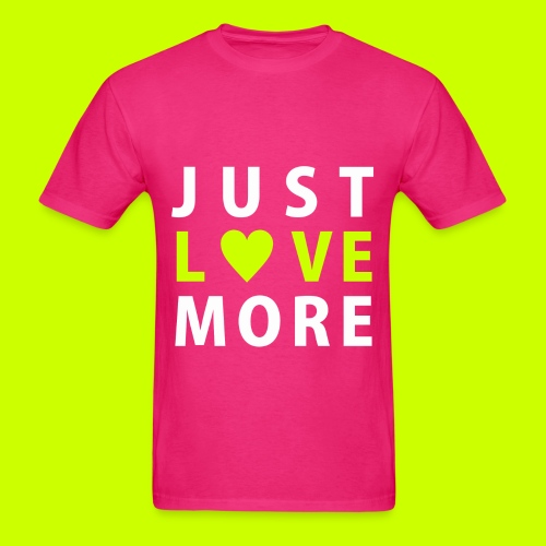 Just Love More Tee in Hot Pink - Men's T-Shirt