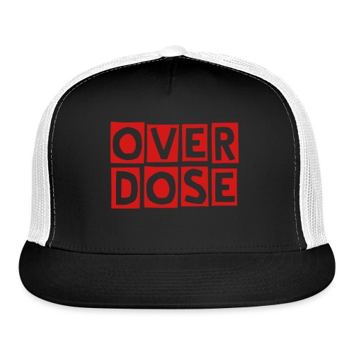 Trucker Cap With Red OverDose - Trucker Cap