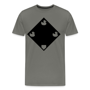 Ducks on a Pond - Grey - Men's Premium T-Shirt