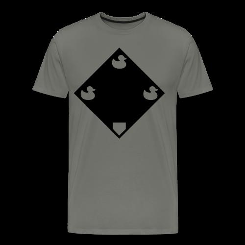Ducks on a Pond - Grey - Men's Premium T-Shirt