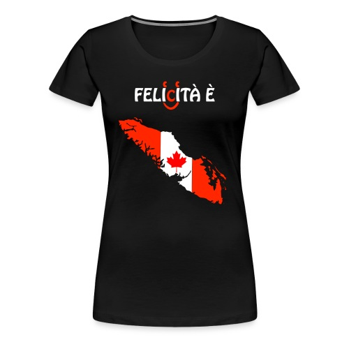 VanIsle_WhiteDes_Blacktee_w-felicita e - Women's Premium T-Shirt