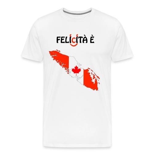 VanIsle_WhiteDes_Blacktee_w-felicita e - Men's Premium T-Shirt