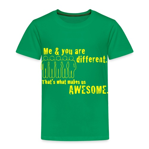 You and Me Are Different Toddler Tee - Toddler Premium T-Shirt