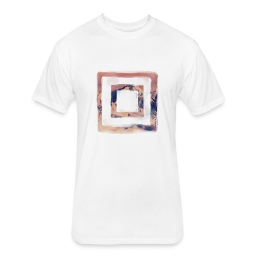 I am a Square Shirt. - Fitted Cotton/Poly T-Shirt by Next Level