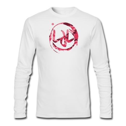 Men Pink LJL Camo Ring Long Sleeve Shirt - Men's Long Sleeve T-Shirt by Next Level