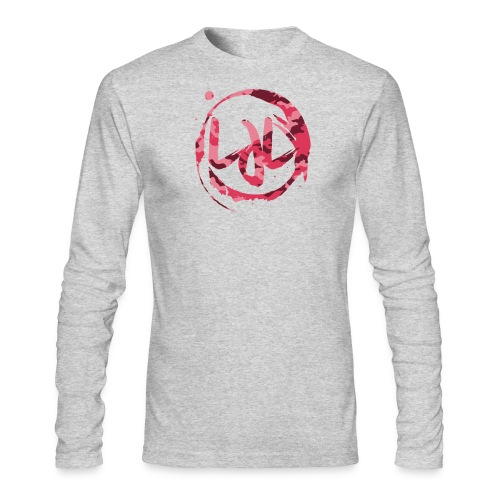 Men Pink LJL Camo Ring Long Sleeve Shirt - Men's Long Sleeve T-Shirt by Next Level