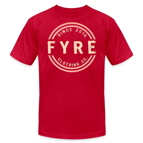 Mens 'Retro Circle' Premium T-Shirt - Red - Men's Fine Jersey T-Shirt
