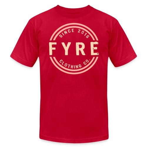 Mens 'Retro Circle' Premium T-Shirt - Red - Men's  Jersey T-Shirt