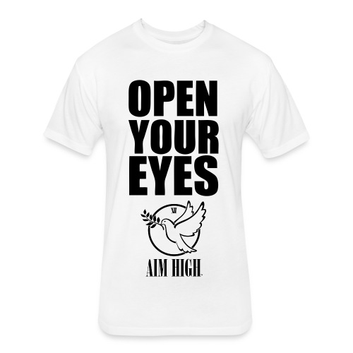Open Your Eyes Aim High Campaign - Fitted Cotton/Poly T-Shirt by Next Level