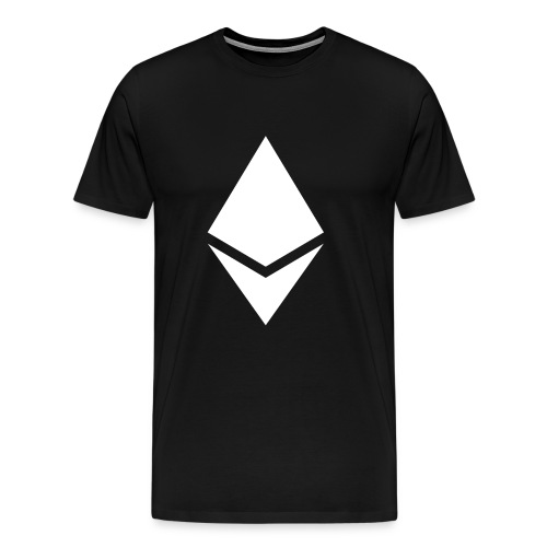 Ethereum Logo T-Shirt - X1.5 - Light on Dark - Men's Premium T-Shirt