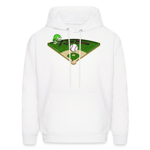 I Love Boston Hoodie (Redsox Colors) - Men's Hoodie