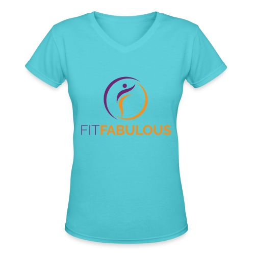 Fit Fabulous V-neck Tee - Women's V-Neck T-Shirt