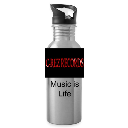 C-REZ RECORDS metal sports drink container - Water Bottle