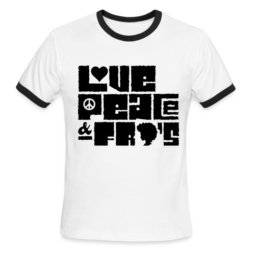 Love, Peace, &Fro's Ringer T-shirt - Men's Ringer T-Shirt