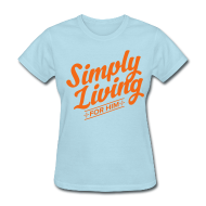 T-Shirts ~ Women's T-Shirt ~ #backtosimple on back of shirt