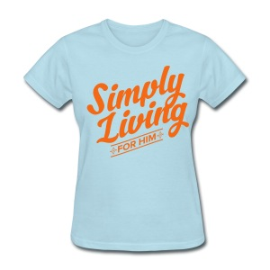#backtosimple on back of shirt - Women's T-Shirt
