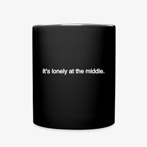 lonely at the middle mug - Full Color Mug