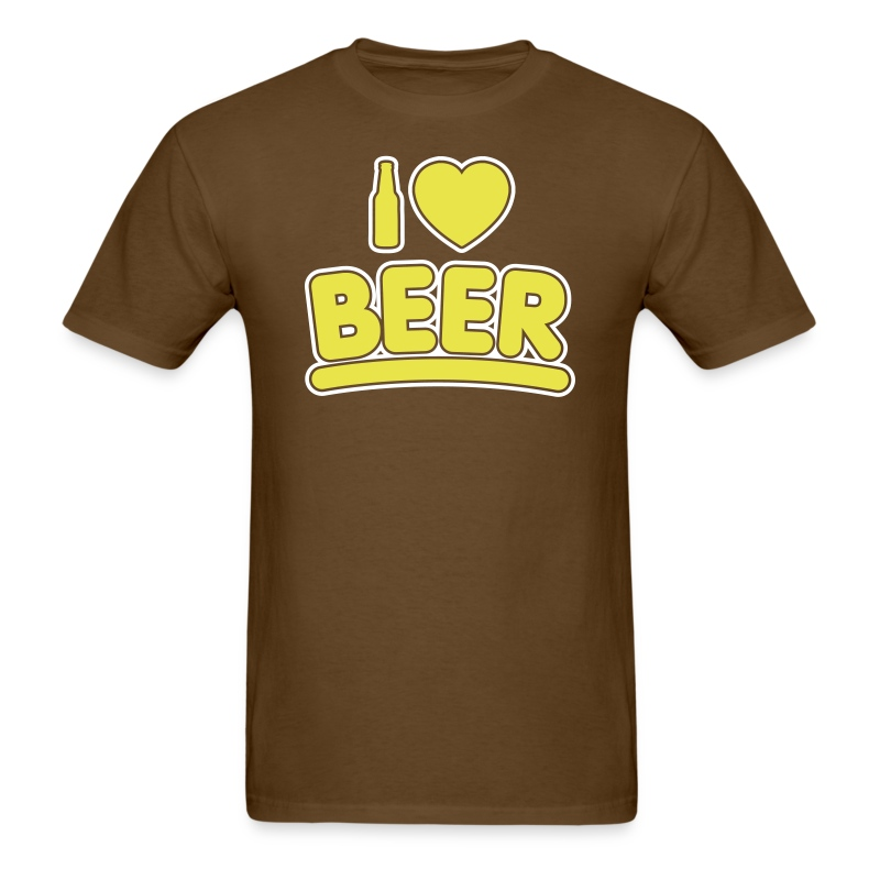I beer 2 color t shirt spreadshirt for One color t shirt