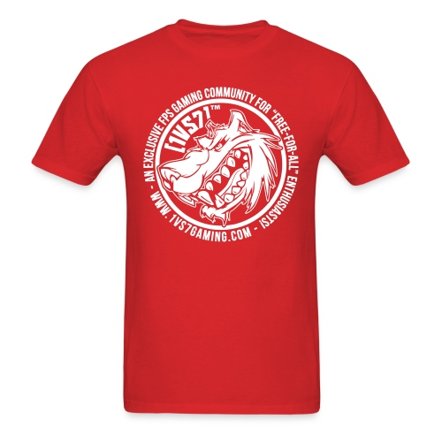 [1vs7]™ Men's Tee | White Smooth Logo | Pick Fabric Color - Men's T-Shirt