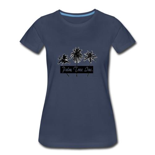 Premium Dark Blue Palm Tree Inc. T-Shirt Women - Women's Premium T-Shirt