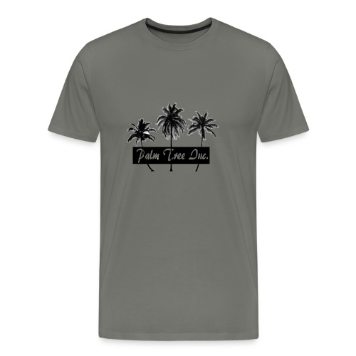 Premium Light Gray Palm Tree Inc. T-Shirt Men - Men's Premium T-Shirt