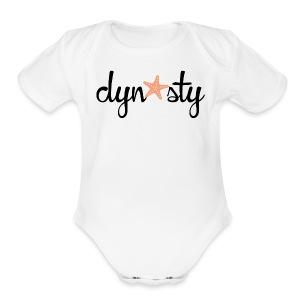 Baby White Dynasty    - Short Sleeve Baby Bodysuit