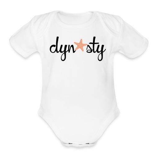 Baby White Dynasty    - Organic Short Sleeve Baby Bodysuit