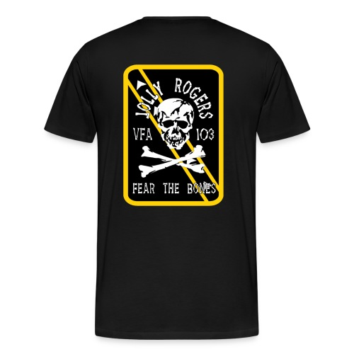 VFA-103 FEAR THE BONES (card) SHIRT - Men's Premium T-Shirt