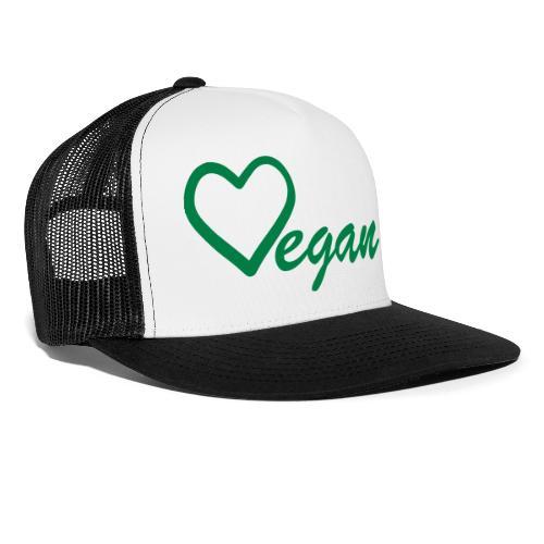 Vegan Heart Trucker Cap - Trucker Cap