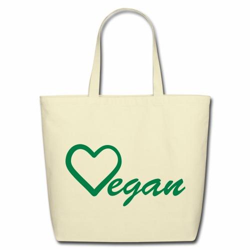Vegan Heart Eco-Friendly Cotton Tote - Eco-Friendly Cotton Tote