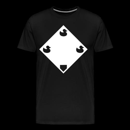 Ducks on a Pond - Black - Men's Premium T-Shirt