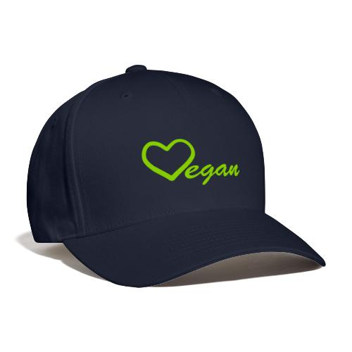 Vegan Heart Baseball Cap - Baseball Cap