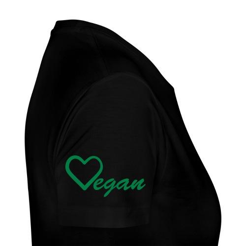 Vegan Heart Women's Premium T-Shirt - Women's Premium T-Shirt