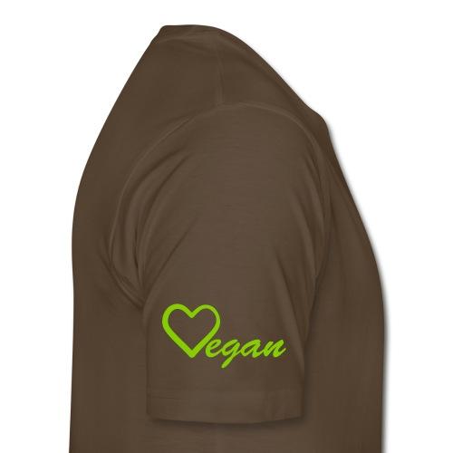 Vegan Heart Men's Premium T-Shirt - Men's Premium T-Shirt