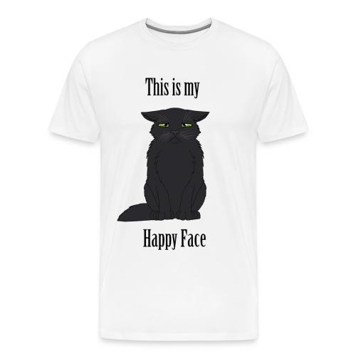 Happy Face - Black Cat - Men's Premium T-Shirt